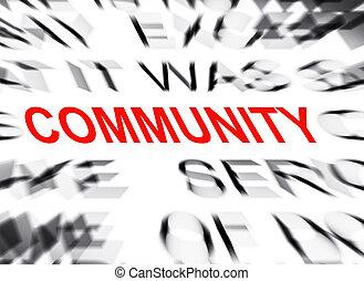 テキスト, blured, フォーカス, 共同体
