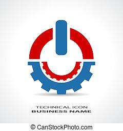 テクニカル, ロゴ, 抽象的