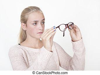 テスト, 女の子, ガラス