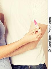 テスト, 妊娠, 女, 人, 手