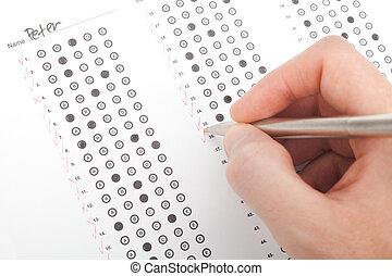 テスト, 教師, 正しい