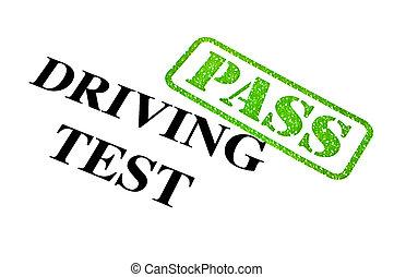 テスト, 運転, パス