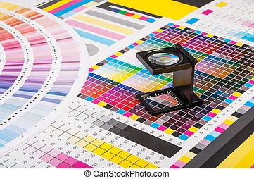 テスト, magnifier, 印刷