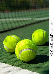 テニスボール, 上に, 法廷