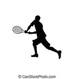 テニス, シルエット
