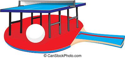 テニス, テーブル, 装置, -