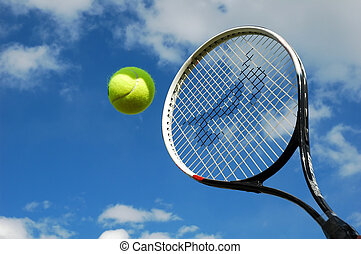 テニス, 中に, 中央の, 飛行