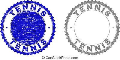 テニス, 透かし, グランジ, textured