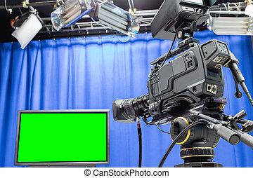 テレビの スタジオ
