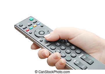 テレビ, パネル, 女性手