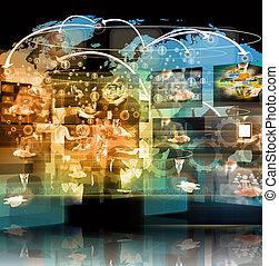 テレビ, ビジネス, conc, 生産, .technology, インターネット