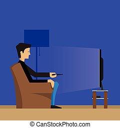 テレビ, 人, 監視