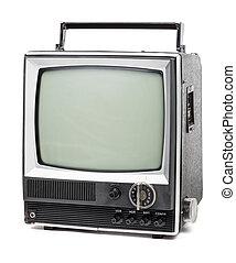 テレビ, 古い, ハンドヘルド
