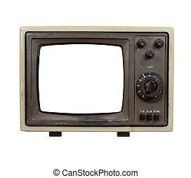 テレビ, 古い, ポータブル