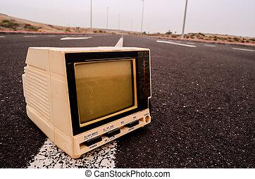 テレビ, 捨てられた, 道