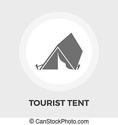 テント, ベクトル, 観光客, アイコン