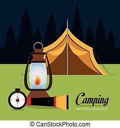 テント, 現場, 地域, キャンプ