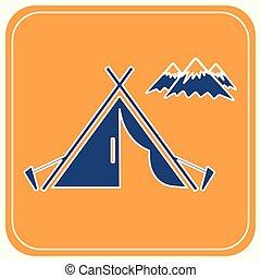 テント, 観光客, アイコン
