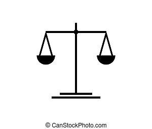 テンプレート, アイコン, スケール, 正義, ロゴ, ベクトル, 法律, イラスト, デザイン, 弁護士