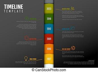 テンプレート, タイムライン, infographic