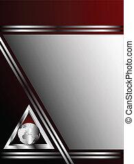 テンプレート, ビジネス, 海原, 銀, 赤い背景, ∥あるいは∥, カード