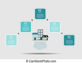 テンプレート, ベクトル, イラストビジネス, infographic