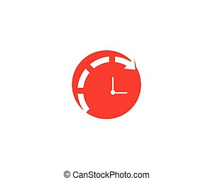 テンプレート, ベクトル, 時計, アイコン