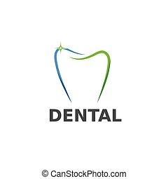 テンプレート, ベクトル, 歯医者の, デザイン