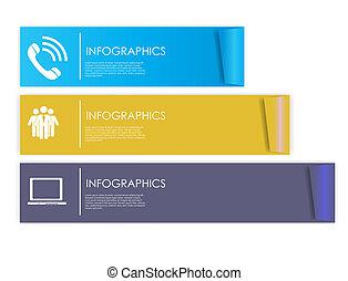 テンプレート, ベクトル, illustration., ビジネス, infographic