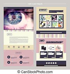 テンプレート, ページ, 抽象的, 1(人・つ), ウェブサイト, デザイン
