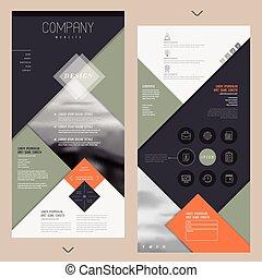 テンプレート, ページ, 現代, 1(人・つ), ウェブサイト, デザイン