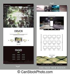 テンプレート, ページ, 1(人・つ), ウェブサイト, デザイン