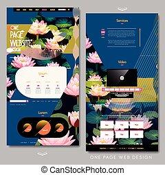 テンプレート, ページ, 1(人・つ), ウェブサイト, デザイン, 美しい