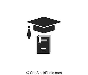 テンプレート, ペーパー, イラスト, 本, 文書, アイコン, ベクトル, ロゴ, 教育