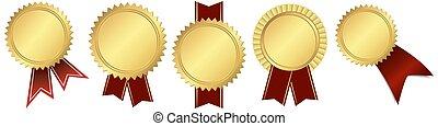 テンプレート, メダル, セット, 金