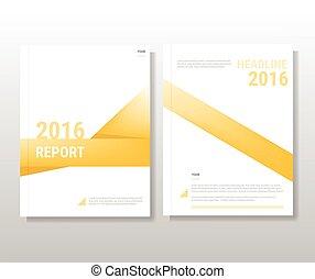 テンプレート, レイアウト, テンプレート, 抽象的, 年報, カバー, 黄色, リーフレット, レポート, 本, a4, フライヤ, パンフレット, プレゼンテーション, デザイン, 大きさ
