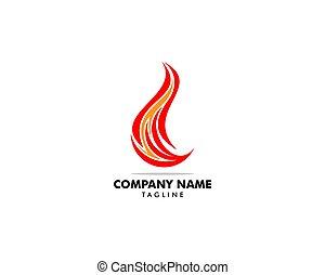 テンプレート, ロゴ, 火, ベクトル, デザイン, 炎