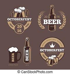 テンプレート, 会社, バー, 醸造, 家, ラベル, ビール, pub