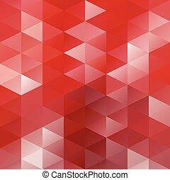 テンプレート, 創造的, 背景, デザイン, 赤, モザイク