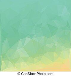 テンプレート, 創造的, polygonal, 背景, デザイン, 緑, モザイク