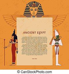 テンプレート, 古代エジプト, text., 場所