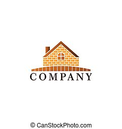 テンプレート, 家, 不動産, ロゴ, デザイン, 金