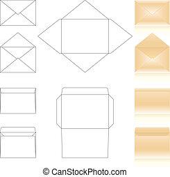 テンプレート, 封筒