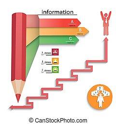 テンプレート, 成功, infographics