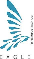 テンプレート, 抽象的, 鳥, ワシ, ベクトル, デザイン