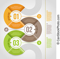 テンプレート, 抽象的, infographics