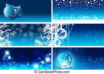 テンプレート, 挨拶, 年, 新しい, クリスマスカード