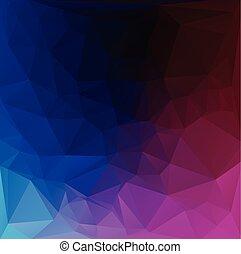 テンプレート, 暗い, 鮮やか, ビジネス 実例, 色, 創造的, polygonal, 背景, ベクトル, デザイン, モザイク