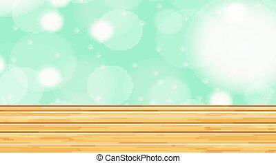 テンプレート, 木製である, 明るい色, 背景, 壁, 床