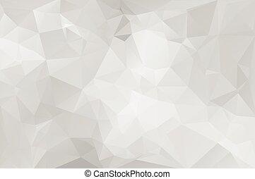 テンプレート, 灰色, ビジネス 実例, ライト, polygonal, 背景, ベクトル, デザイン, モザイク